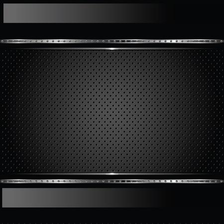 dark fiber: Abstracte metalen achtergrond met bouten Stock Illustratie