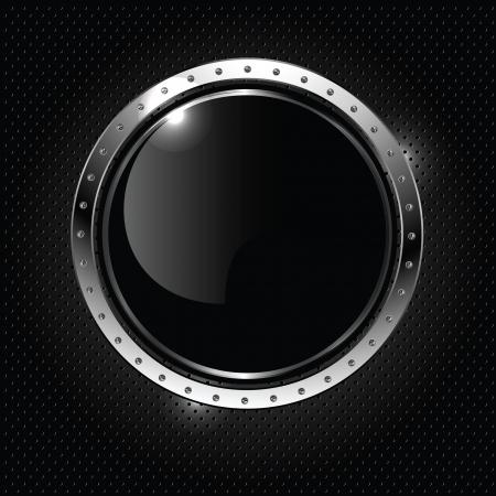 cromo: Resumen de fondo metálico con todo el brillante estandarte de vectores,.