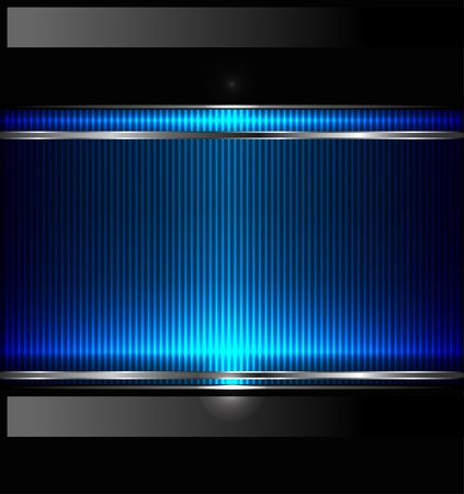 Technology background with metallic banner. Vector