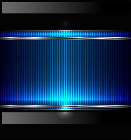 fondos azules: Tecnología de fondo con la bandera metálica. Vectores
