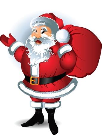 weihnachtsmann lustig: Santa Claus. Vektor-Illustration. Illustration