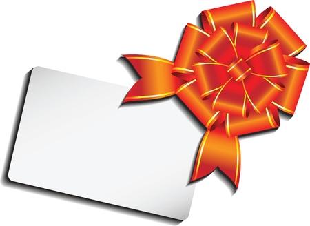 message box: celebration bow. Illustration