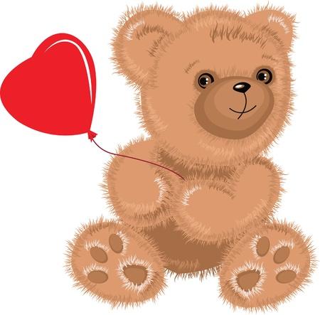 cute bear: teddy-bear.