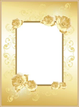 frame-background with flowers Illustration