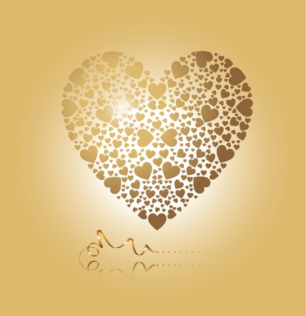 heart pattern: heart of gold