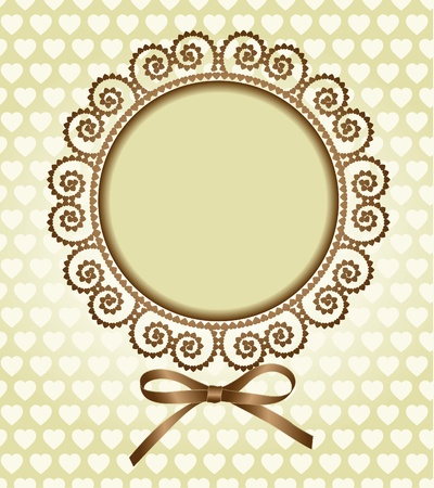 round frame with a bow Vector