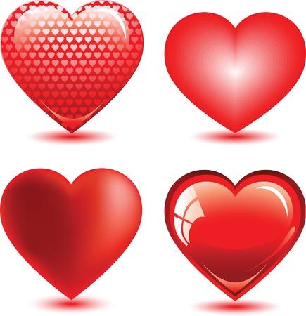 set of hearts. Иллюстрация