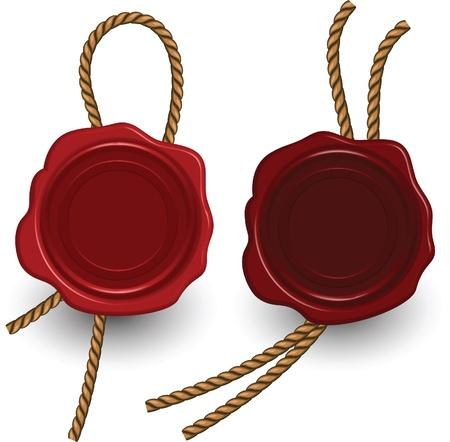 guarantee seal: Vector sello de cera.