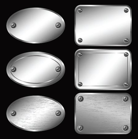 elipse: Las etiquetas de plata - Placas de identificación.