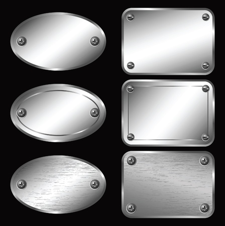 plaques: Silver Labels - Nameplates.