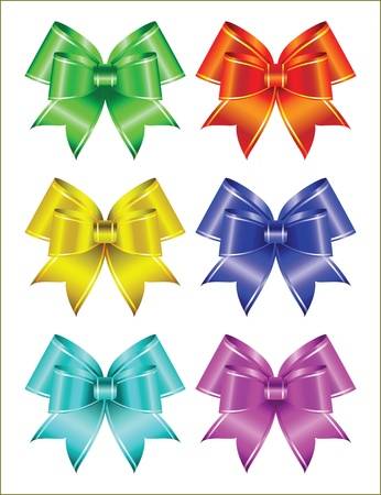 set of colored ribbons. Vector