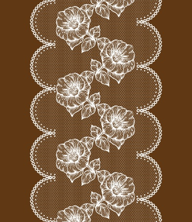 background with white floral lace. Stock Vector - 11747332