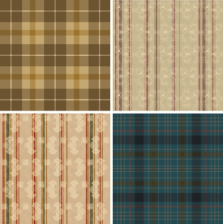 oldish: Collection of seamless textile wallpapers.