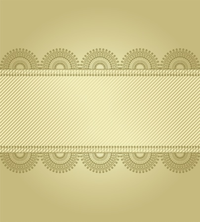 golden background with lace Vector