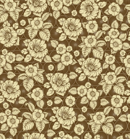Seamless floral lace Vector