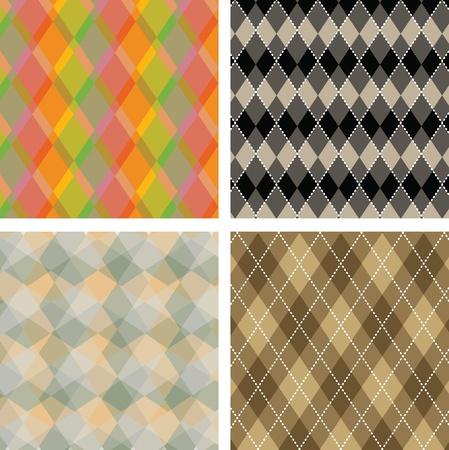 diamond clip art: Seamless plaid pattern