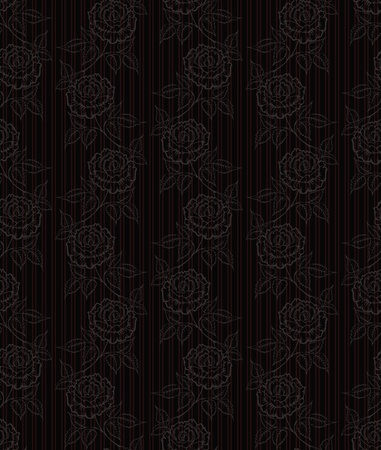 seamless wallpaper with roses Stock Vector - 12005777