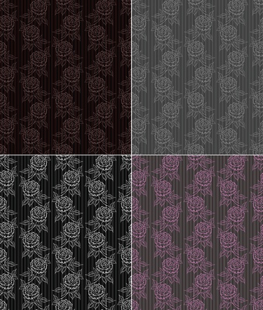 seamless wallpaper with roses. Vector