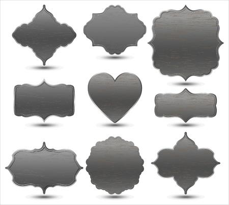 set van metalen frames Vector Illustratie
