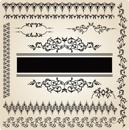 Set of vintage design elements Stock Vector - 12083990