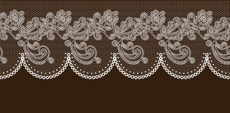 handwork: vector lace elements. Illustration