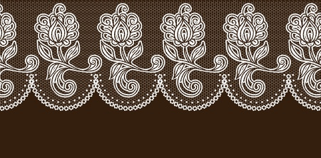 lace fabric: vector lace elements. Illustration