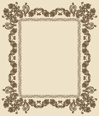 victorian anniversary: Vintage Frame.
