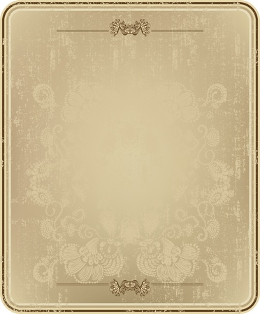 old fashioned menu: Vintage frame with abstract floral pattern