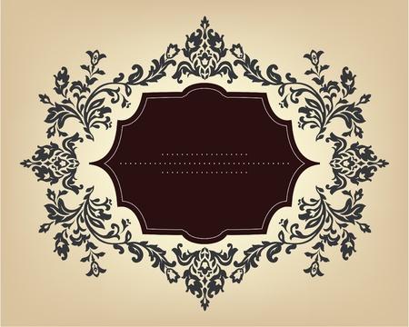 виньетка: Урожай кадр с цветочным орнаментом