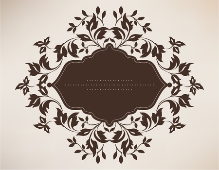 Vintage frame with floral ornament Stock Vector - 12324529