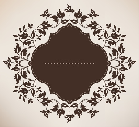 Vintage frame with floral ornament Vector