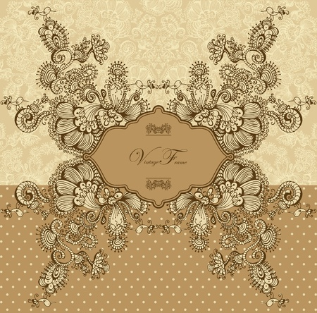 Vintage template with decorative birds Vector