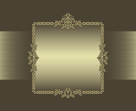brown background with frame Vector