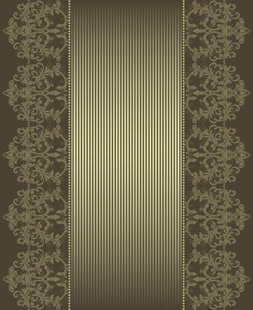 brown background with frame. Vector