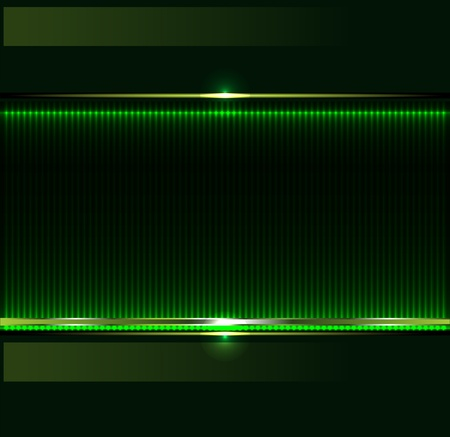 Green technology background with metallic banner Illustration