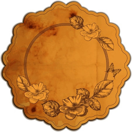 aristocratic: Vintage round frame adorned with roses