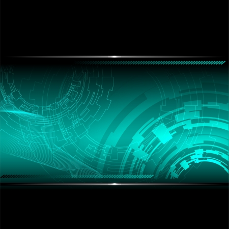 Technological background with metallic banner. Vector