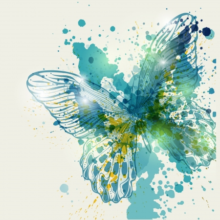 Butterfly with colorful spots, vector illustration.Eps10 Vector