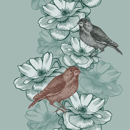 illustration Seamless wallpaper  Иллюстрация