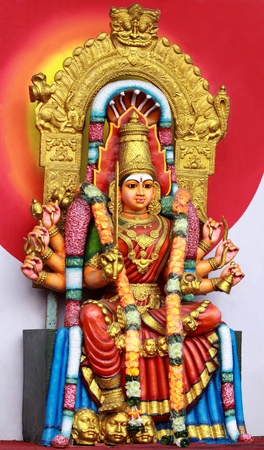 Hindu Goddess Amman Statue photo