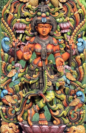 hindu god: Hindu Goddess Lakshmi Stock Photo