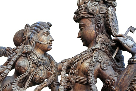 Wooden Statue of Hindu God krishna