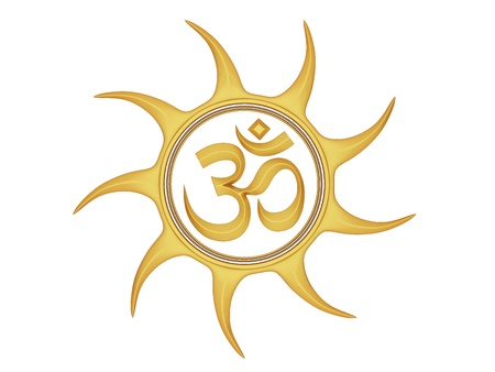 hindu god shiva: Om Symbol  Stock Photo
