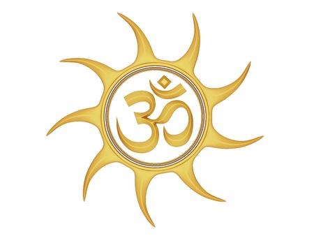 sanskrit: Om Symbol  Stock Photo
