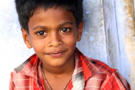 Cheerful Indian Little Boy  Stock Photo