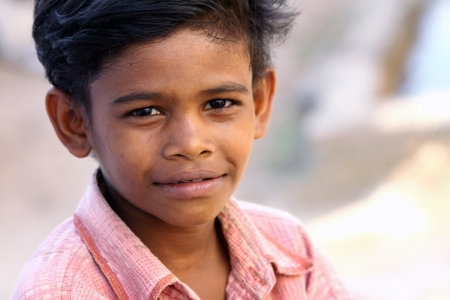 Indian Little Village Boy photo
