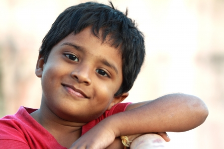 poor people: Smiling Cute Indian Boy