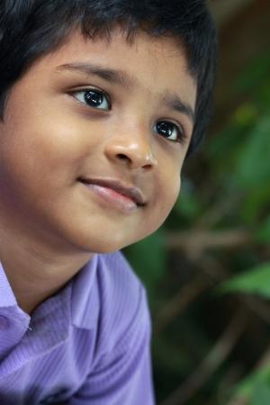 Portrait of Indian Cute Boy Stock Photo