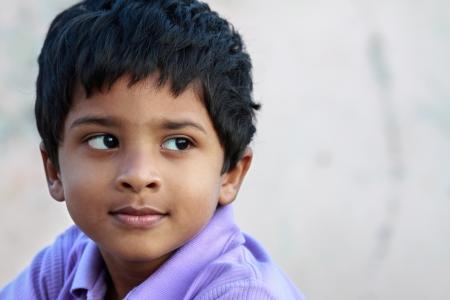 Cute Indian Little Boy Stock Photo