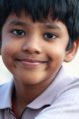 Portrait of Indian Little Boy photo